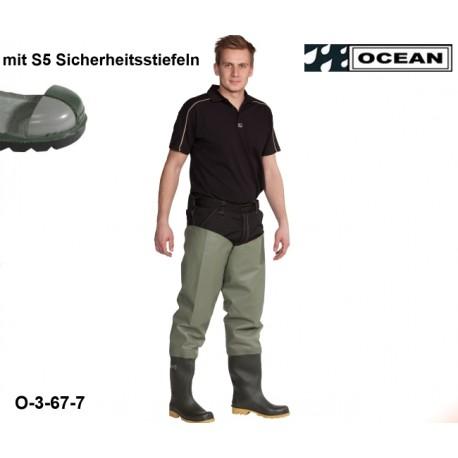 Seestiefel / Watstiefel mit S5 Sicherheitsstiefeln Classic OCEAN 3-67 hohe Strapazierfähigkeit!