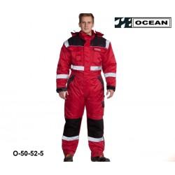 Thermo-Overall Atmungsaktiv OCEAN 50-52 rot mit breiten Reflexstreifen