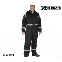 Thermo-Overall Atmungsaktiv OCEAN 50-52 schwarz mit breiten Reflexstreifen