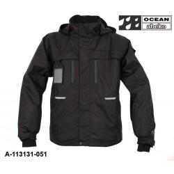 Fargo Jacke schwarz Ocean-Abeko gefüttert, atmungsaktiver Wind und Wetterschutz