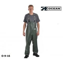 Regen-Latzhose-CLASSIC, OFF SHORE & FISHING, OCEAN grün