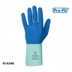 Fischereihandschuh 12 Paar Chemikalienschutzhandschuh -Pro-Fit Super Blue Naturlatex blau