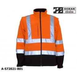 Warnschutz Softshelljacke orange-schwarz