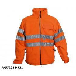 Wasserdichte Fleece-Warnschutzjacke Buffalo fluoreszierend orange EN 471 Klasse 3