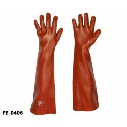 stronghand® Vinyl Handschuhe 12 Paar rot 60 cm Profi-Qualität für Landwirtschaft, Handwerk, Industrie