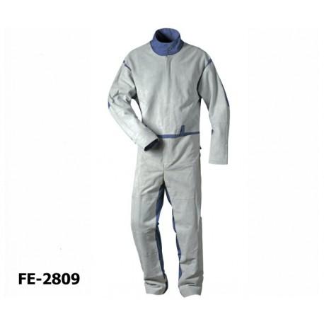 Sandstrahler-Schutzanzug, Overall, Elmar mit Spaltlederbesatz, CRAFTLAND® Protection