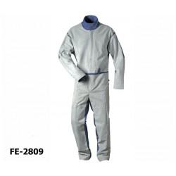 Sandstrahler-Schutzanzug XXL Overall Elmar mit Spaltlederbesatz CRAFTLAND® Protection