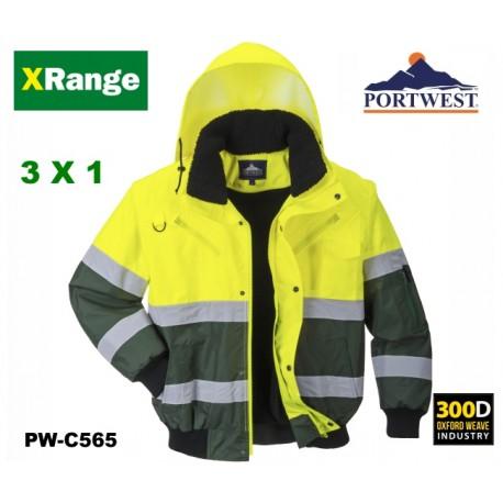 Warnschutz Bomber-Wetterjacke Portwest X-Range Farmer - Komfort, Haltbarkeit und Sicherheit