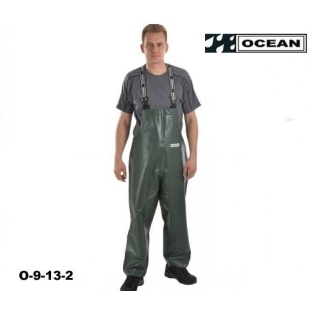 Fischerei-Regen-Latzhose-CLASSIC, schmales Modell OFF SHORE & FISHING, OCEAN - EN 343, EN14116