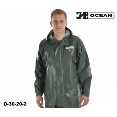 OCEAN Fischerjacke, Regenbekleidung, Jacke, 325g PVC olive, Landwirtschaft und Fischerei