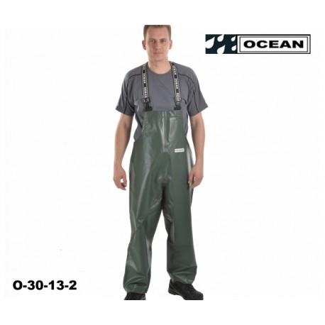 Fischerei - Latzhose, Ocean 30-13 Off Shore & Fishing, Olive, Landwirtschaft & Fischerei