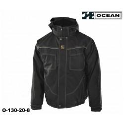 Ocean Medusa atmungsaktive Außenarbeitsjacke schwarz, Wetterschutzjacke