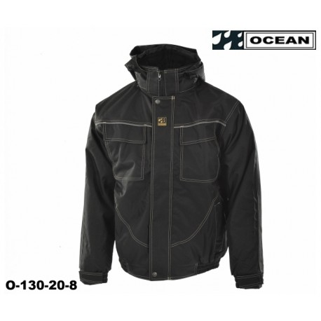 Ocean Medusa atmungsaktive schwarze Wetterschutz-Arbeitsjacke det 2