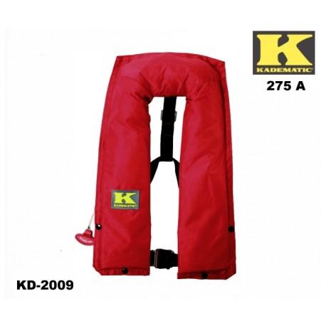 Rettungsweste Kadematic® 275 A rot Vollautomatik Norm DIN EN ISO 12402-2