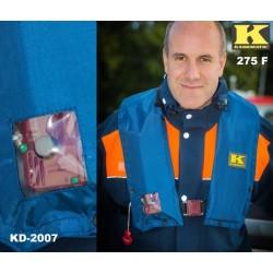 Rettungsweste Kadematic® 275 F blau Vollautomatik mit Sichtfenster DIN EN ISO 12402-2
