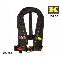 Rettungsweste Kadematic® 150 SC schwarz Vollautomatik mit Sichtfenster DIN EN ISO 12402-3