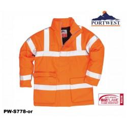 Bizflame™ Regen-Warnschutz Jacke PORTWEST® GO/RT Norm orange antistatisch, flammhemmend
