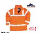 Regen- Warnschutzjacke gefüttert PORTWEST® Bizflame™ GO/RT Norm orange