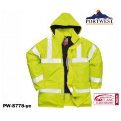 Regen- Warnschutzjacke gelb gefüttert PORTWEST® Bizflame™ flammhemmend