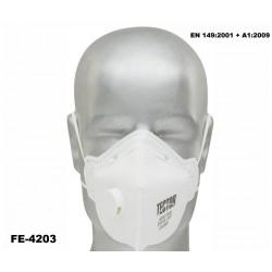 Feinstaub-Faltmaske FFP2 TECTOR 12 Stück mit Ausatmungsventil Norm: EN 149:2001 + A1:2009