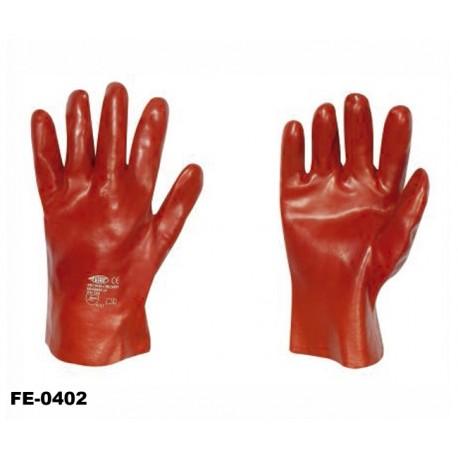 stronghand® Vinyl Handschuhe rot 27 cm - 12 Paar Profi-Qualität für Landwirtschaft, Handwerk, Industrie