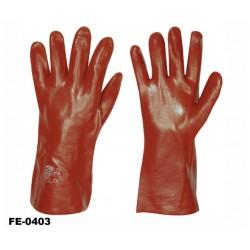 stronghand® Vinyl Handschuhe rot 35 cm - 12 Paar Profi-Qualität für Landwirtschaft, Handwerk, Industrie