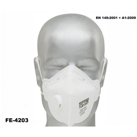 Feinstaub-Faltmaske P2 TECTOR mit Ausatmungsventil 240 Stück Norm: EN 149:2001 + A1:2009