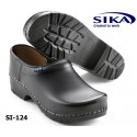 Sika Clogs 124 Traditionell geschlossen schwarz, Holzfußbett