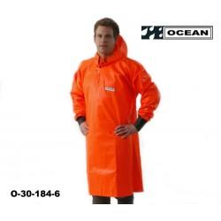 OCEAN Langes Ölhemd 325 gr PVC mit Neoprenmanschetten orange