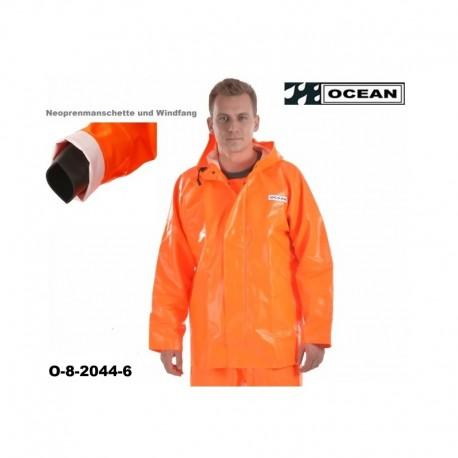 Fischerei Regenjacke OCEAN CLASSIC PREMIUM - mit Neoprenmanschetten OCEAN 8-2044