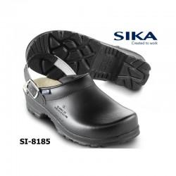 SIKA, Clogs 8185 FLEX LBS OB weiß oder schwarz mit Fersenriemen