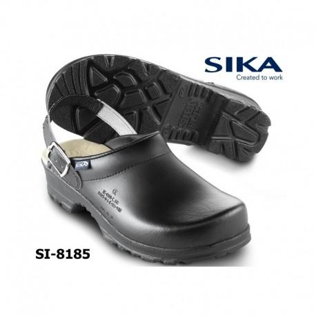 SIKA, Clogs FLEX LBS OB weiß oder schwarz mit Fersenriemen