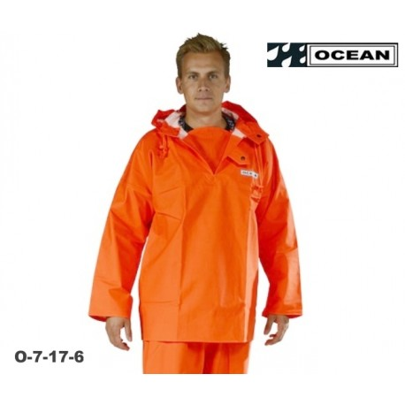 OCEAN Heavy Duty Ölzeug, Regen Smock / Fischerbluse, auch als Waldarbeiter- Regenbekleidung