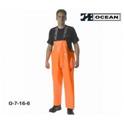 OCEAN Heavy Duty Fischerei Regen-Latzhose orange breites Modell