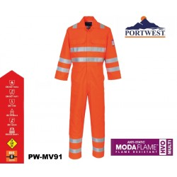 MODAFLAME™ RIS OVERALL PORTWEST® orange Ultimativer Schutz in Multi-Risiko-Umgebung
