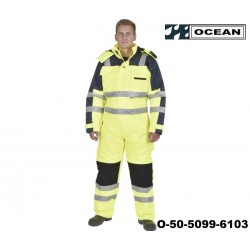 Warnschutz Thermo-Overall HIGH-VIS - OCEAN gelb - marine