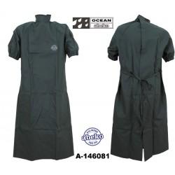 Geburtsmantel / Rektal-Mantel grün mit Fronttasche