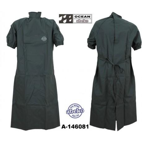 Geburtsmantel / Rektal-Mantel grün mit Tasche