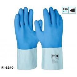 Fischereihandschuh - Chemikalien-Schutzhandschuh - Pro-Fit Super Blue Naturlatex blau