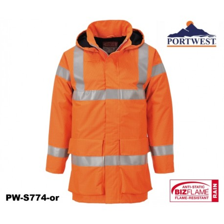 Regen Warnschutzjacke Multinorm Bizflame™ PORTWEST® mit GO/RT Norm orange