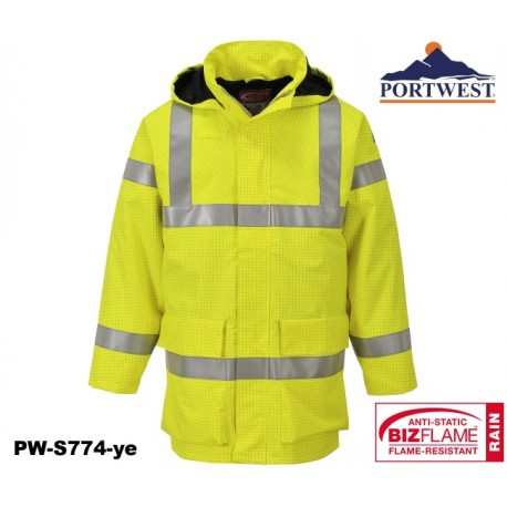 Regen Warnschutzjacke Multinorm Bizflame™ PORTWEST® mit GO/RT Norm gelb