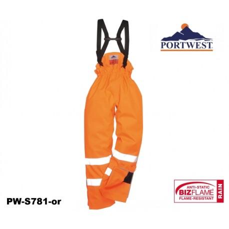 Regen- Warnschutzhose gefüttert Multinorm Bizflame™ mit GO/RT Norm orange