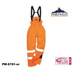 Regen- Warnschutzhose Multinorm ungefüttert Bizflame™ mit GO/RT Norm orange