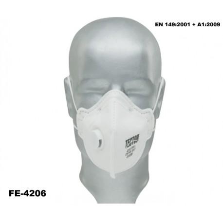 Feinstaub-Faltmaske P3 Karton 240 Stück TECTOR mit Ausatmungsventil günstig