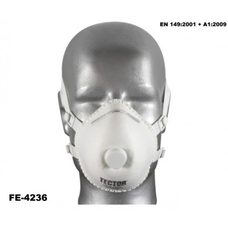 Feinstaubmaske Klassik FFP3 Karton 100 Stück TECTOR mit Ausatmungsventil günstig