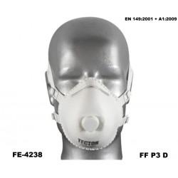 Dolomit-Feinstaubmaske FFP3 D Karton 100 Stück TECTOR mit Ausatmungsventil günstig