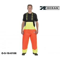 Fischerei Latzhose Ocean Nordsee gelb orange