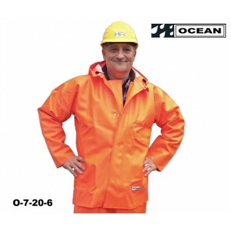 Heavy Duty Jacke schweres Ölzeug Regenjacke orange