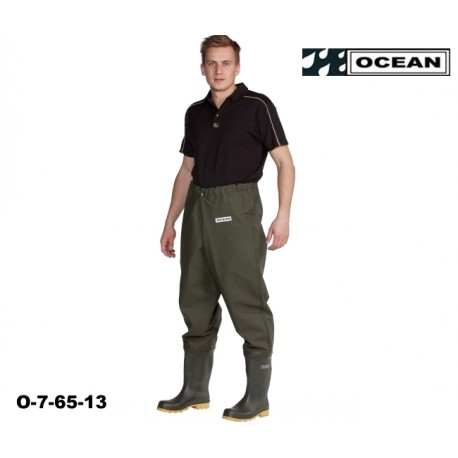 Hüft-Wathose OCEAN de Luxe 7-65 fischen, angeln, waten 700 gr. PVC