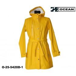 Damen Regenjacke PURE OCEAN gelb